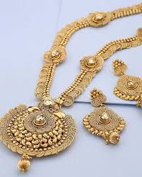 gold plated necklace pendants images Buy designer necklace sets temple design gold plated necklace set jpg
