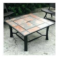 ceramic tile top patio table tile top patio table ceramic tile coffee table outdoor fire pit
