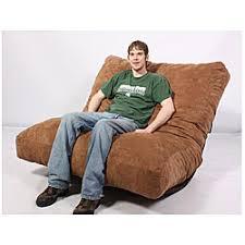 fufsack brown microfiber futon pillow lounge chair
