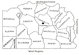 map of counties in pa greene county pennsylvania township map