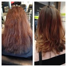 before after by sharon balayage haircut brazilian blowout