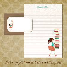 personalized stationery mini letter writing set library