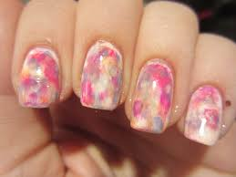 water color nails misshollyberries