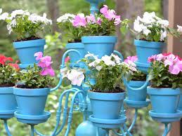 diy hanging flower pot chandelier southern living