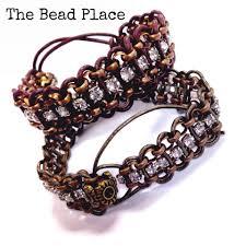 leather rhinestone bracelet images Solstice bracelet rhinestone chain cord diy jpg