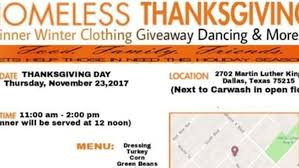 a homeless thanksgiving martin luther king carwash civic events