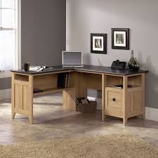 L Shaped Office Desk With Hutch Corner L Shaped Office Desks Beige Leather Sea Glass Table Top