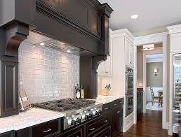 kitchen subway tile backsplashes gray subway tile backsplash kitchen traditional with cooktop dark
