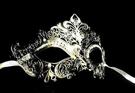 metal masquerade mask venetian style luxury filigree laser cut metal masquerade mask