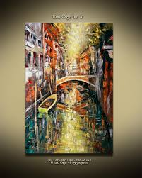 Guse Christmas Trees by Venice Oil Abstract Landscape Painting Contemporary Modern