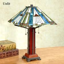 mission style stained glass lamps table lamps mission style table