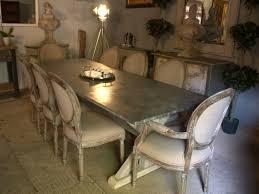 tom marsh zinc top dining table