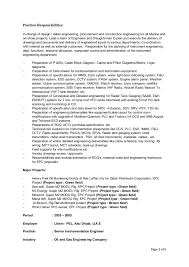 instrumentation and control engineer sample resume