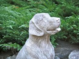 cement golden retriever garden statue fasci garden
