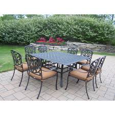 Cast Aluminum Patio Furniture Canada by Hanover Traditions 9 Piece Aluminium Square Patio Dining Set With