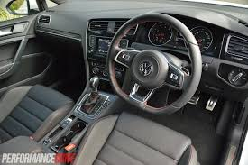 volkswagen gti interior 2014 volkswagen golf gti performance mk7 review video