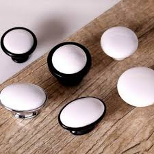 Home Decor Hardware 1pc Door Pulls Handles Tulip Ceramic Door Knobs Cabinet Wardrobe