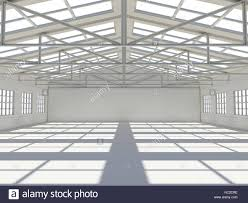 Warehouse Interior Abstract Empty White Warehouse Interior Stock Photo Royalty Free