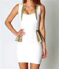 white sequins decor peplum dress dresses casual dress casual