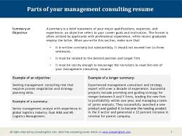 Examples Of Summary On A Resume by Management Consulting Resume Sample