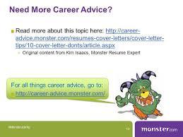 monster cover letter tips cover letter sample general purpose