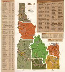 Idaho On Map Idaho Beverage Map Idaho Inns Idaho B U0026b Association