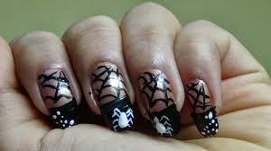 new hairstyle 2014 halloween spider web nail art ideas