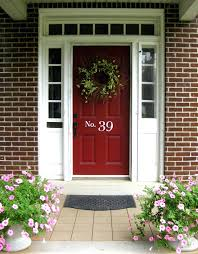 front door colors red brick home entry before afterbarn exterior