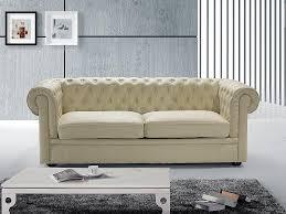 amazon canapé canapé 2 3 places canapé en cuir beige chesterfield beliani prix