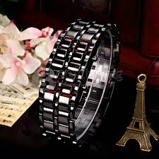 mens watches with bracelet images Makibes lava watch men watch stainless steel led red digital watch jpg