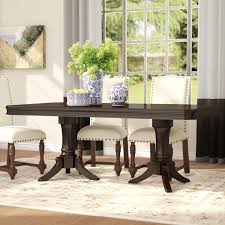 extendable dining room table alcott hill rheems extendable dining table reviews wayfair