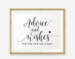 wedding wishes and advice advice and wishes etsy