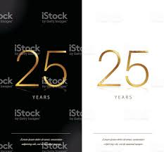 25th Anniversary Invitation Cards 25th Anniversary Decorated Invitation Greeting Card Template Stock