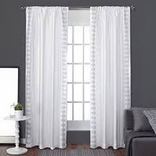 And White Curtains White Pattern Curtains
