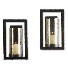 Sconces Decor Contemporary Candle Wall Sconces Bronze With Candles Great Home