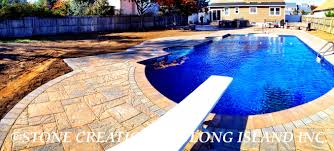 Long Island Patio by Exterior Design Interesting Outdoor Design With Stone Bench And