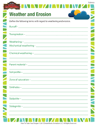 weather and erosion worksheet u2013 science printable for 6th grade