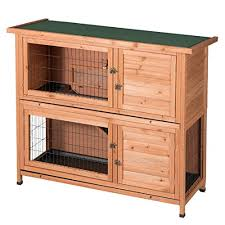 good life two floors wooden outdoor indoor bunny hutch rabbit cage