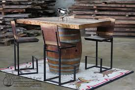 Barrel Bar Table In Stock And For Sale Littlebranch Farm Rustic Log Furniture
