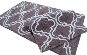 Plum Bath Rugs Plum Bath Rugs 2 Bathmat Set Trellis Collection Anti