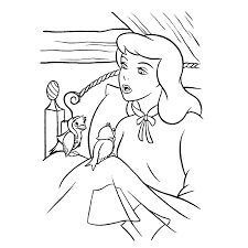 desenhos da cinderela para colorir u2013 gata borralheira para pintar