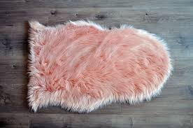 Washable Sheepskin Rug Machine Washable Faux Sheepskin Blush Area Rug U2013 Kroma Carpets