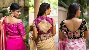 open blouse top 50 blouse designs back open