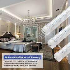 Wohnzimmer Mit Indirekter Beleuchtung Led Leuchtstoffröhre Komplett 150cm 120cm 90cm 60cm T8 Lichtleiste