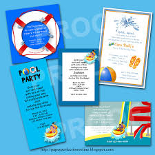 Invitation Card For Pool Party Paper Perfection March 2012