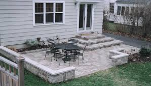 Backyard Stone Ideas Lovable Stone Backyard Patio Ideas Paver Patio Sitting Wall And