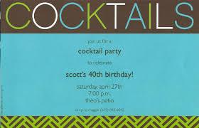 40th Birthday Invitation Cards Cocktail Party Invite U2013 Gangcraft Net
