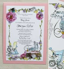 alice in wonderland baby shower invitations iidaemilia com