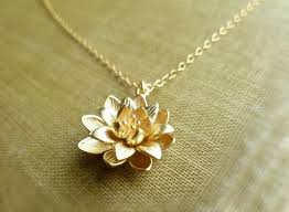 gold flower pendant necklace images Gold lotus necklace symbolic flower pendant on a dainty gold jpg