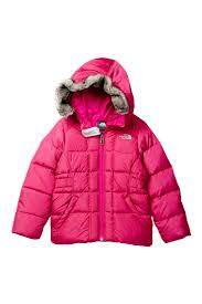 the north face gotham faux fur trim jacket toddler girls